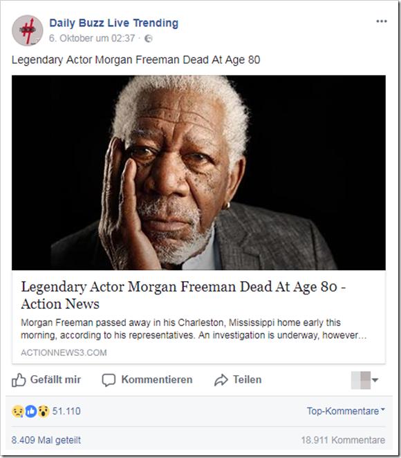 Morgan Freeman Tod